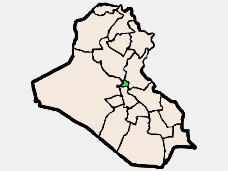 Baghdad locator map