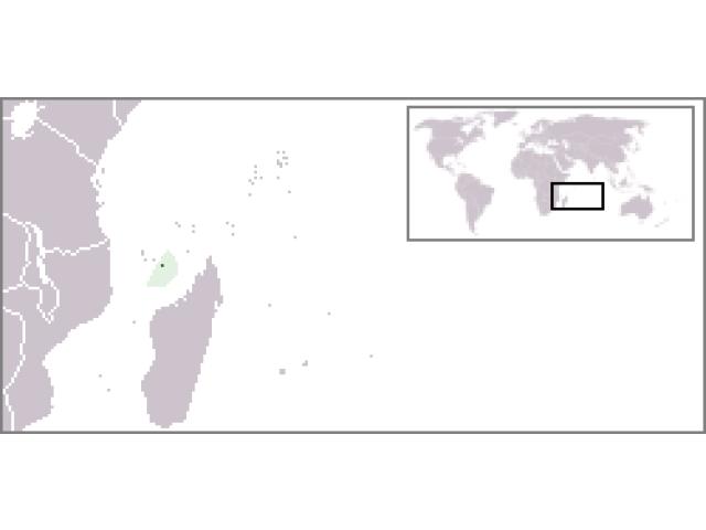 Mayotte locator map