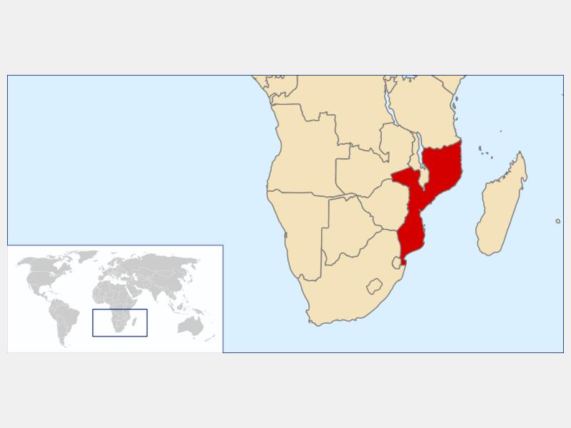 Republic of Mozambique locator map