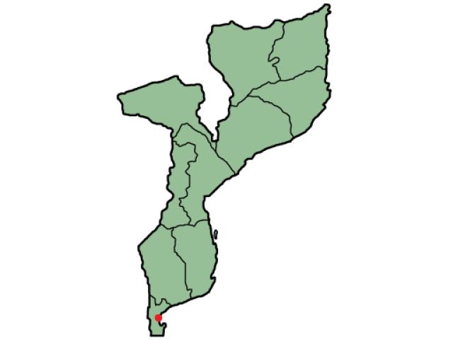 Maputo locator map