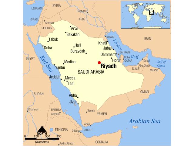 Riyadh locator map