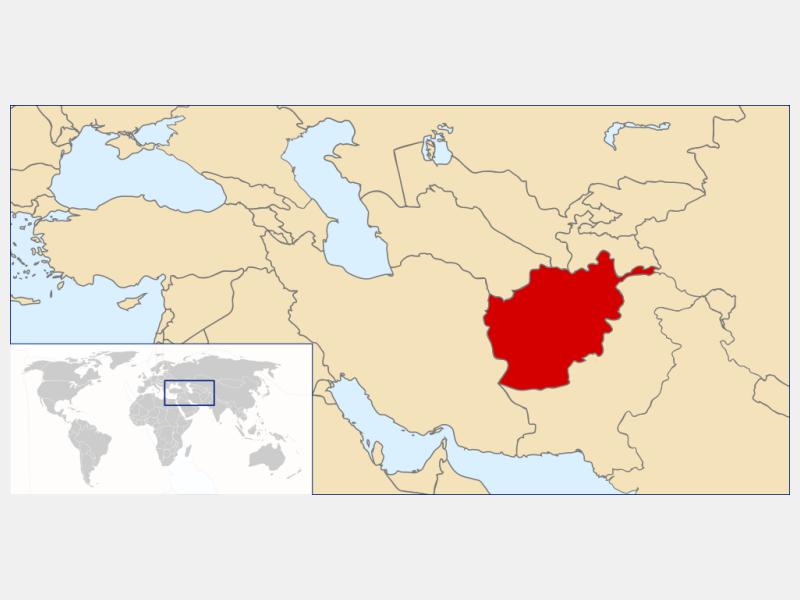Afghanistan locator map