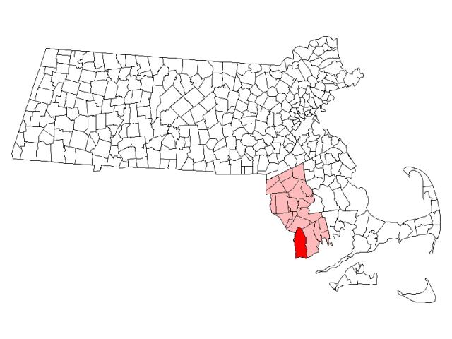 Westport locator map