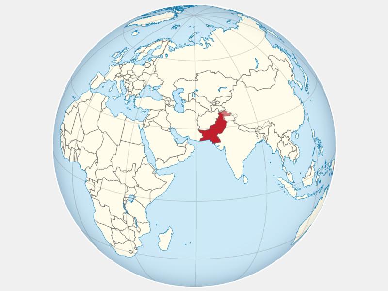 Islamic Republic of Pakistan locator map