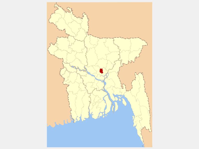 Dhaka locator map