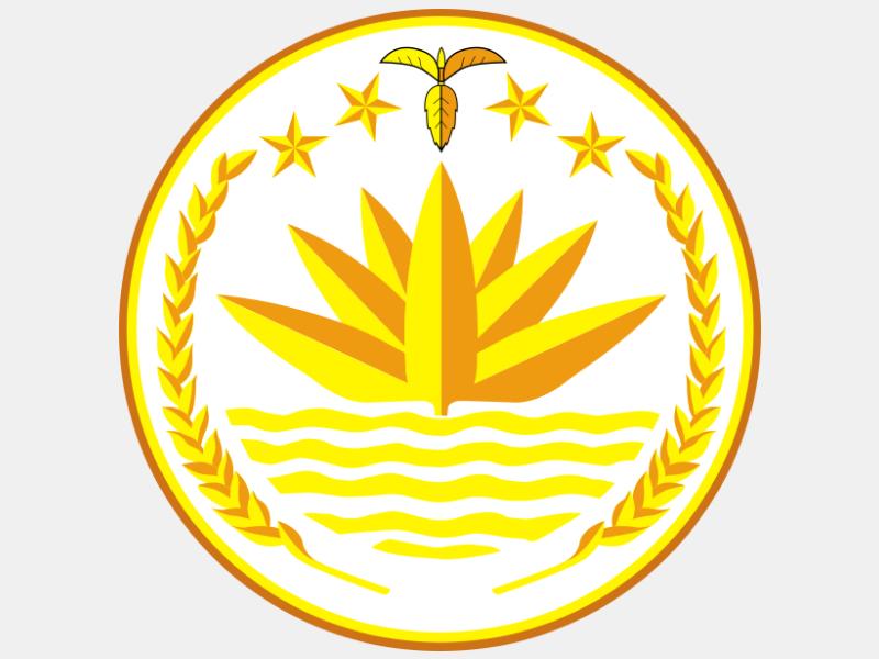 National emblem of Bangladesh coat of arms image