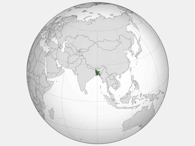 People's Republic of Bangladesh locator map