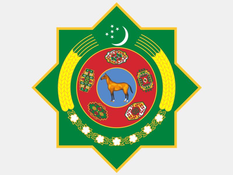 Emblem of Turkmenistan coat of arms image