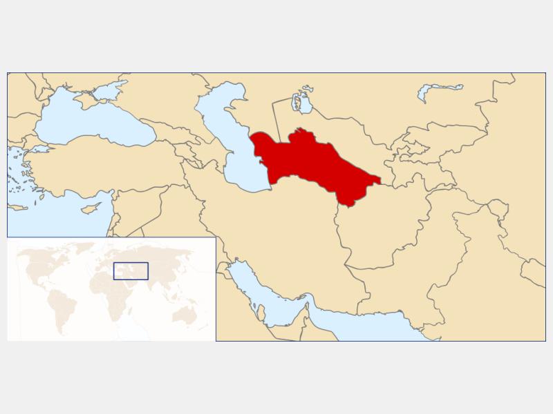 Turkmenistan locator map
