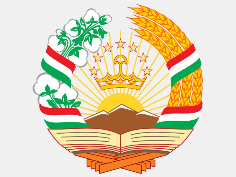 Emblem of Tajikistan coat of arms image