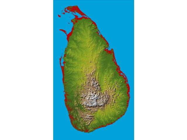 Topography Sri Lanka image