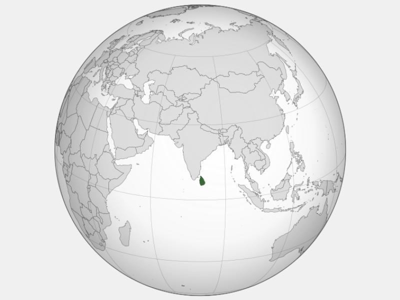 Democratic Socialist Republic of Sri Lanka locator map