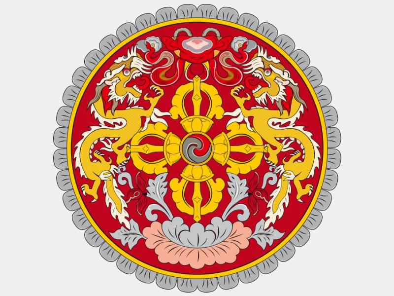 Emblem of Bhutan coat of arms image