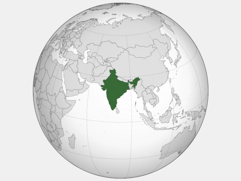 Republic of India locator map