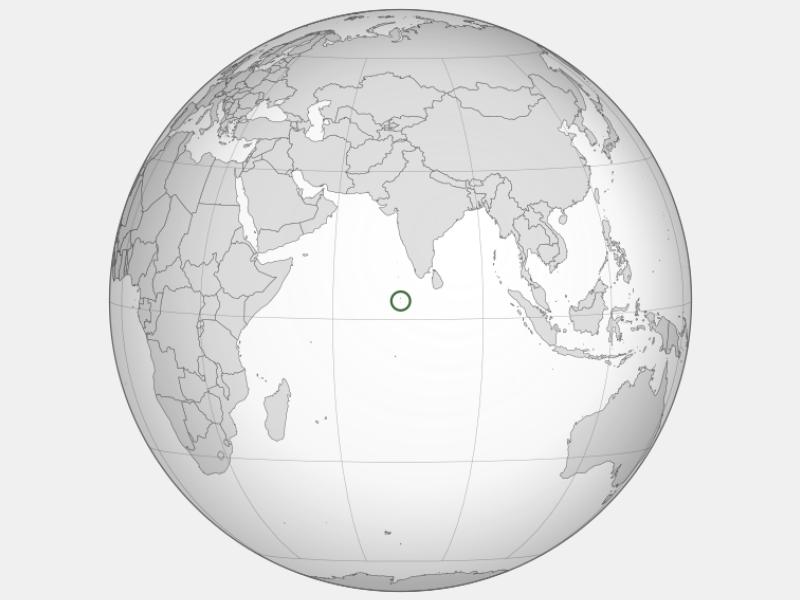 Republic of Maldives locator map