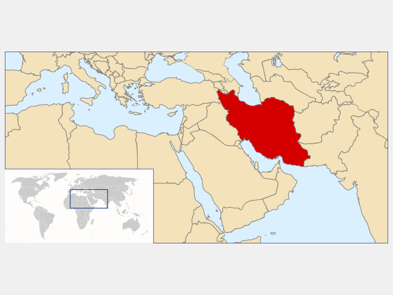 Islamic Republic of Iran locator map