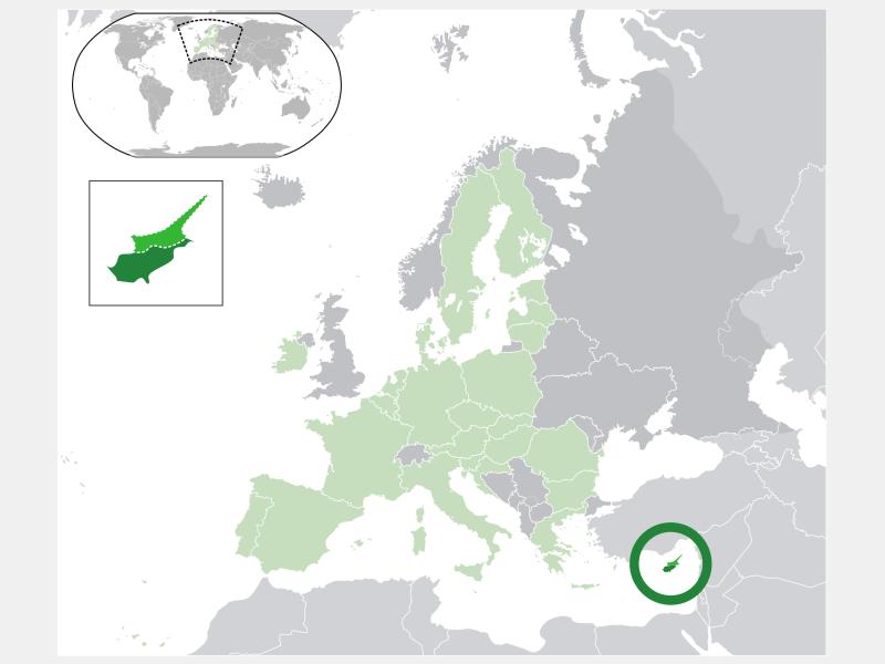 Republic of Cyprus locator map