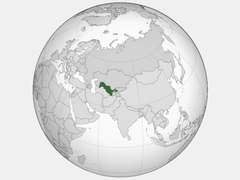 Republic of Uzbekistan locator map