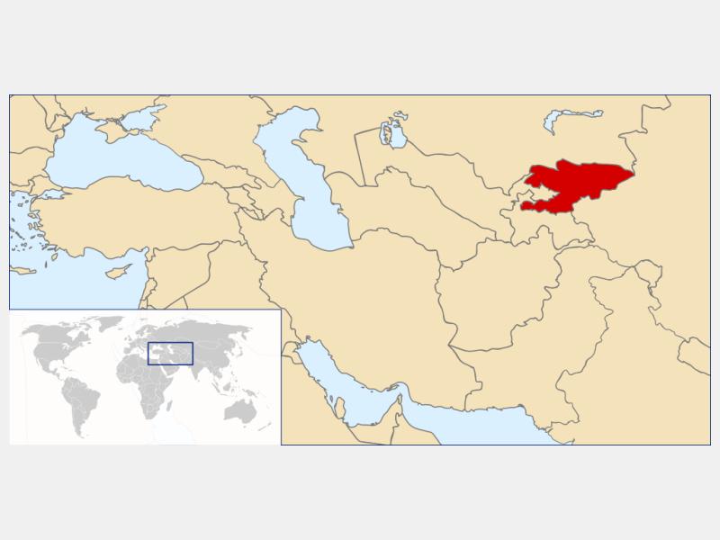 Kyrgyz Republic locator map
