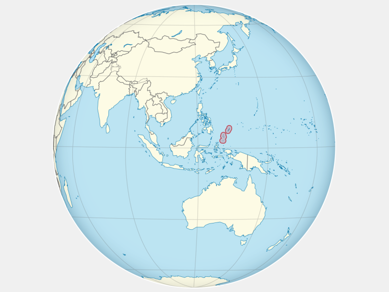 Republic of Palau locator map