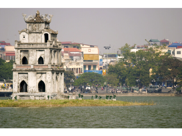 Hoan Kiem Lake with Thap Rua 'Tortise Tower' '3695178852' image