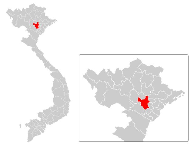 Hanoi locator map