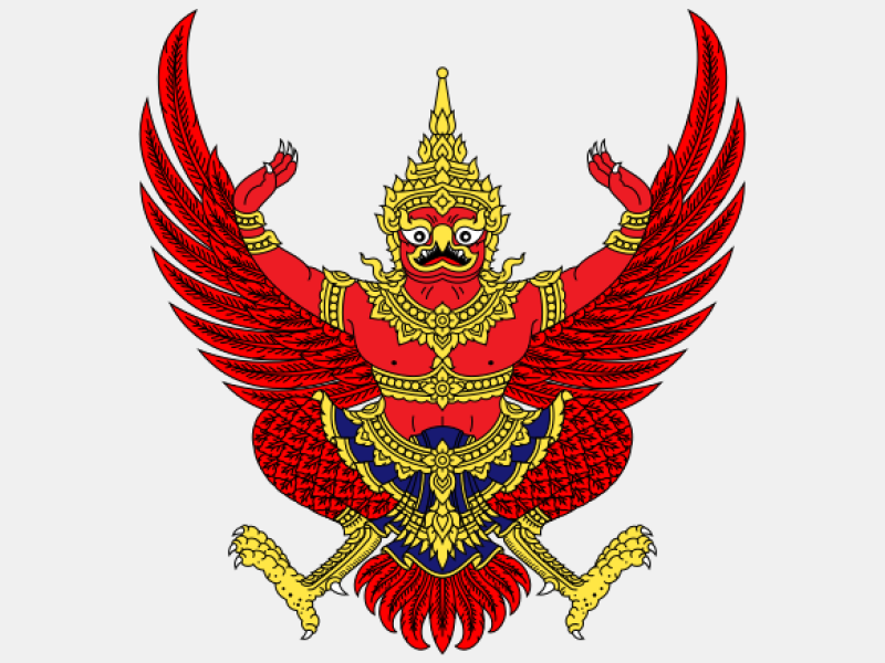 Emblem of Thailand coat of arms image