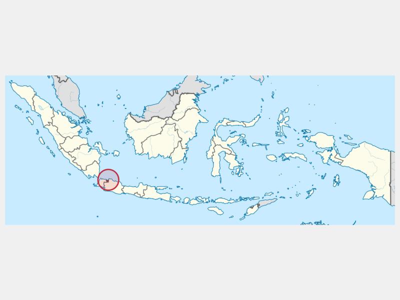 Jakarta locator map