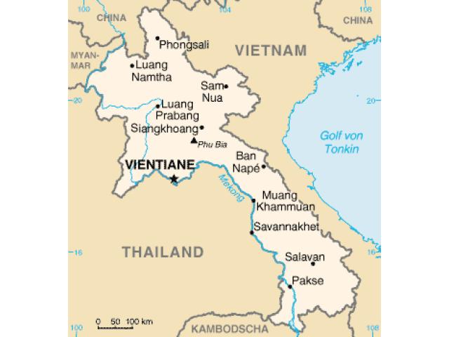 Vientiane locator map