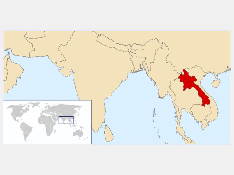 Lao People's Democratic Republic locator map