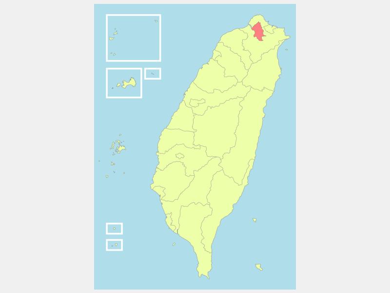 Taipei locator map