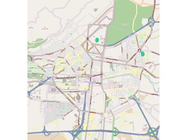 Damascus locator map
