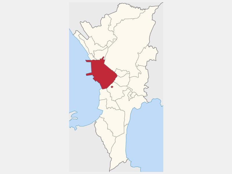 Manila locator map