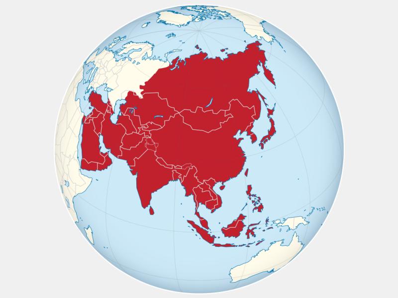 Asia locator map