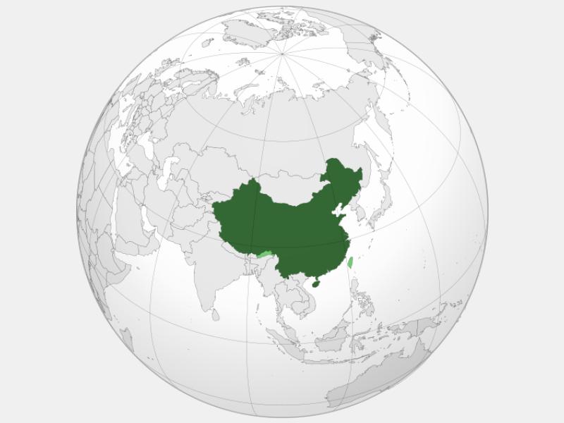 People's Republic of China locator map
