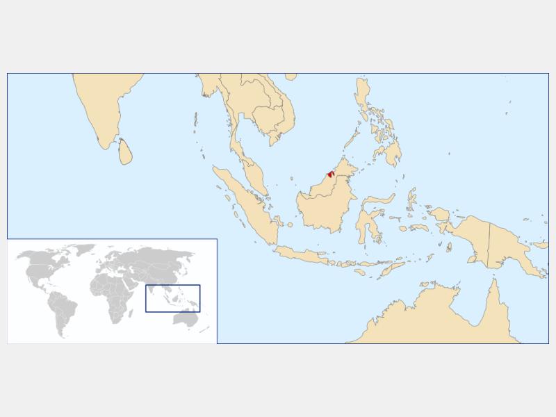 Brunei Darussalam locator map