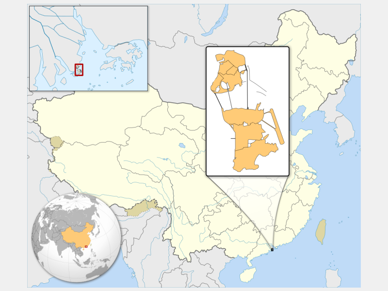 Macau locator map