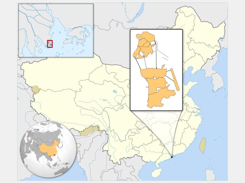 Macau Special Administrative Region locator map
