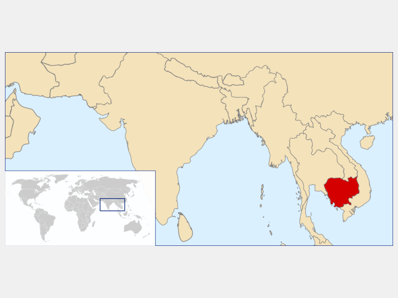 Kingdom of Cambodia locator map