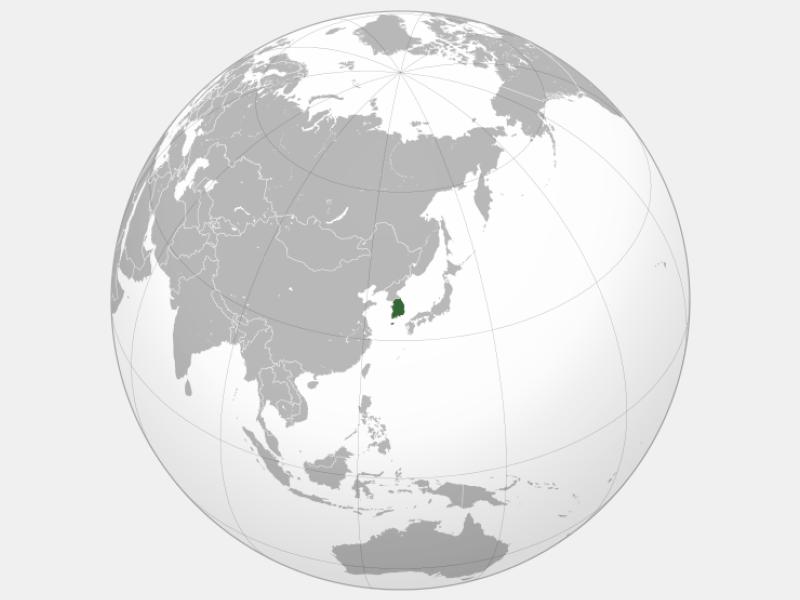 Republic of Korea locator map