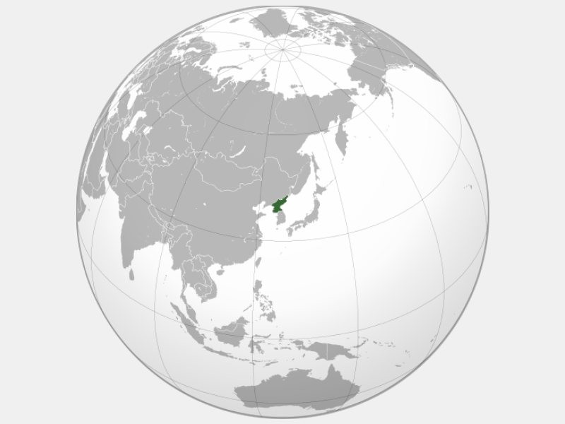 Democratic People's Republic of Korea locator map