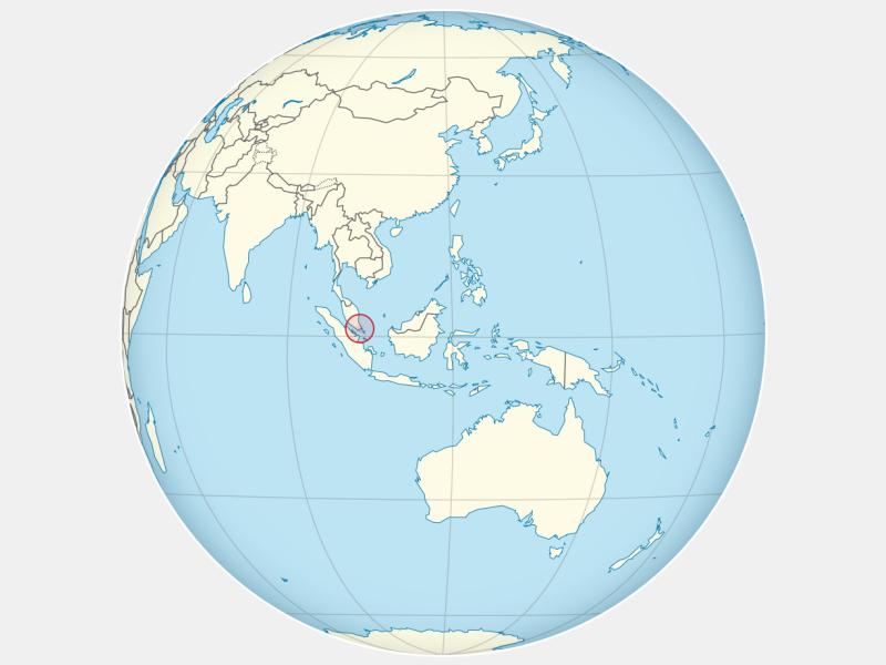 Republic of Singapore locator map