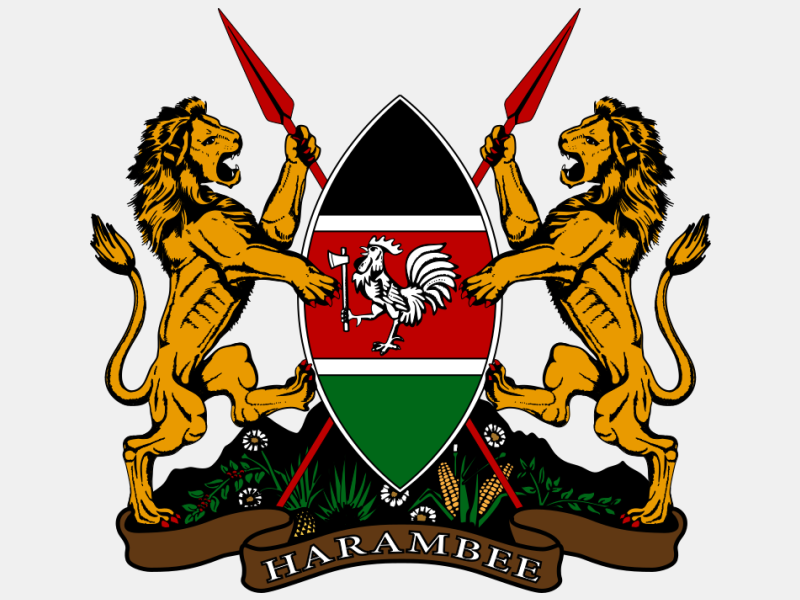 Coat of arms of Kenya 'Official' coat of arms image