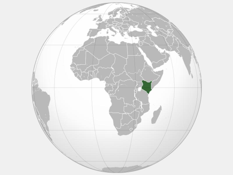 Republic of Kenya locator map