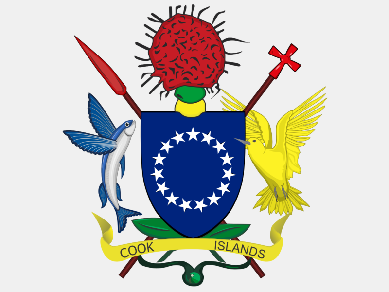 Coat of arms of the Cook Islands coat of arms image