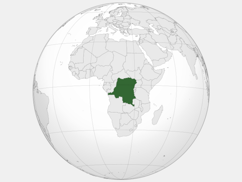 Democratic Republic of the Congo locator map