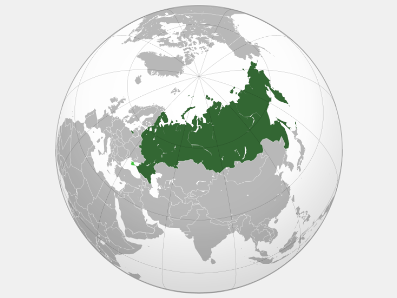 Russian Federation locator map