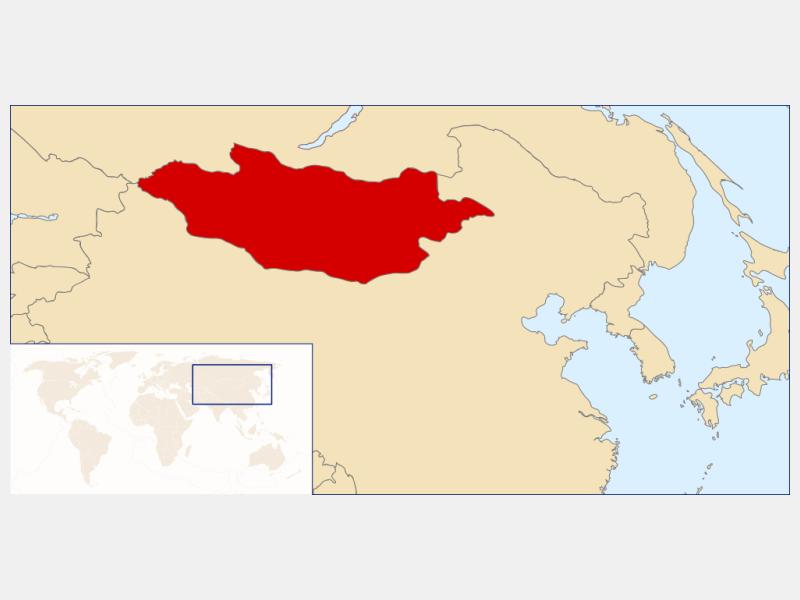 Mongolia locator map