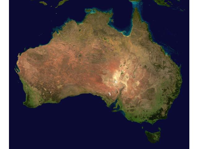 Australia satellite plane image