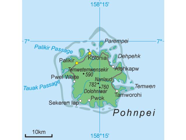 Palikir - National Government Center locator map